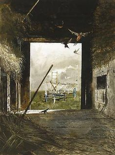 Andrew Wyeth  Swallows. 1980  watercolor on paper. 26 x 19 1/4 in.