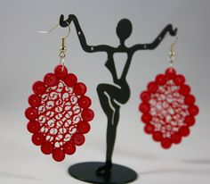 Beautiful quilled earring