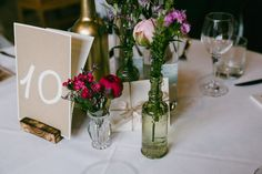 Wedding Table Decoration Flowers Tischdeko Hochzeit - CHARMEWEDD