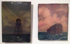 """Steven Roebuck """"self-portrait 5"""", Oil on Canvas, 2013 13""""x 9"""" """"self-portrait 7"""", Oil on Canvas, 2013 13""""x 10"""" #landscape #art"""