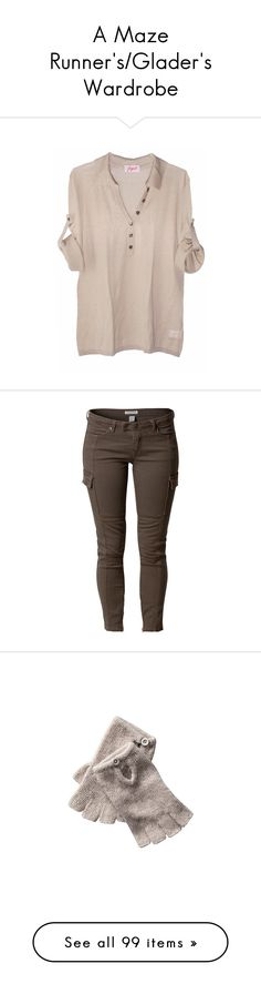 """""""A Maze Runner's/Glader's Wardrobe"""" by aesthetes ❤ liked on Polyvore featuring tops, blouses, shirts, blusas, long sleeve shirts, pink button shirt, loose shirts, button sleeve shirt, long loose shirts and pants"""