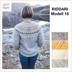 28-03 Riddari 18 Fair Isle Knitting Patterns, Sweater Knitting Patterns, Hand Knitting, White Sweaters, Wool Sweaters, Icelandic Sweaters, Knit Crochet, Crochet Pattern, Handicraft