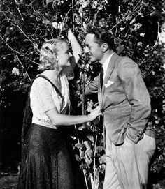 Carole Lombard and William Powell outside their home in Beverly Hills.