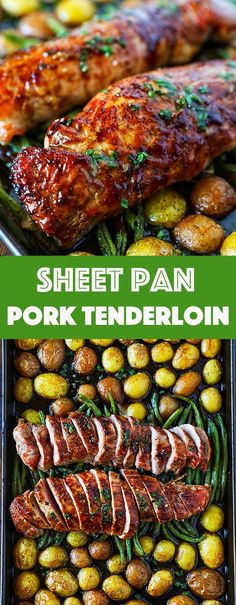 Pork Tenderloin Recipe Easy Sheet Pan Dinner - No. 2 Pencil This is the Best Pork Tenderloin Recipe I have ever had! It is packed full of amazing flavor and makes for such an easy weeknight dinner! Best Pork Tenderloin Recipe, Tenderloin Pork, Pork Chops, Healthy Pork Tenderloin Recipes, Easy Dinner Recipes, Easy Meals, Easy Recipes, Pork Recipes, Healthy Recipes