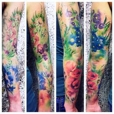 Watercolor Tattoo  Hundertfarben Flensburg