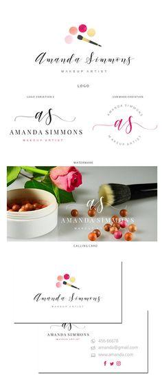 Branding kit logo design  Premade makeup logo  Makeup artist