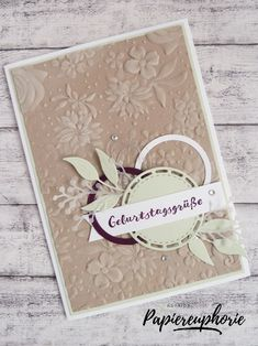 An embossed birthday card with materials from Stampin & stampinup # . An embossed birthday card with materials from Stampin & StampinUp Tarjetas Stampin Up, Stampin Up Cards, Birthday Greetings, Birthday Cards, Stampinup, Embossed Cards, Birthday Design, Mothers Day Cards, Card Sketches