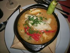 A famous Chilean dish, the Caldillo de Congrio, a clear fish stock. Also a humerous post on the *Congrio Dorado*. Read more