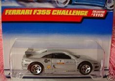 Hot Wheels 1999 1:64 Scale Silver Ferrari F355 Challenge Die Cast Car Collector #1115 by Mattel. $3.51. Hot Wheels 1999 1:64 Scale Silver Ferrari F355 Challenge Die Cast Car Collector #1115. Mattel Hot Wheels 1999 1:64 Scale Silver Ferrari F355 Challenge Die Cast Car Collector #1115