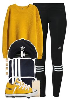 """So gimmie all of you in exchange for me"" by cheerstostyle ❤ liked on Polyvore featuring adidas, H&M, Maison Margiela, Kate Spade, Converse, women's clothing, women, female, woman and misses"