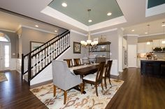 Gorgeous, open dining room with tray ceiling :: New Homes in Carmel - Monterey II - M/I Homes Indianapolis