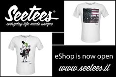 Our eshop is online now. Find out your exclusive tee. www.seetees.it