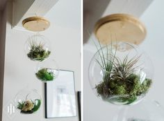 DIY Tutorial: How to Make a DIY Hanging Airplant Terrarium | Capitol Romance ~ Real DC Weddings | Images & Tutorial by Jenn Heller Design Co