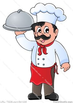 Cartoon chef - Royalty Free stock photo image available at The3dStudio.com, the oldest and largest 2D and 3D resource site on the internet. It's fast and easy to buy stock photos and images at T3DS--no credits or subscriptions; stock photo prices start at $2. If you need a photo for your blog or for scrapbooking, or to print and frame and hang on your wall—come to T3DS!