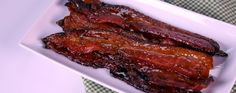 Combine your two favorite words into one delicious salty sweet snack: candied bacon! Daphne