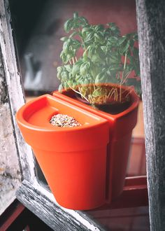 Magnetic indoor-outdoor pot
