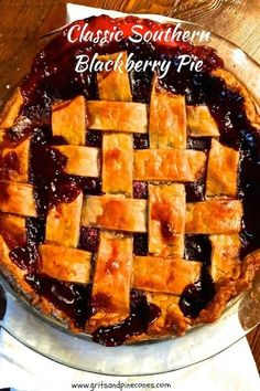 You won't believe how easy Classic Southern Style Blackberry Pie with its plump juicy blackberries is to make and more importantly, how delicious it is!  via @gritspinecones