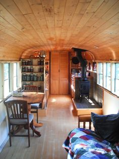 How We Improved Our Finances by Living In A Bus -- Some other general tiny or small house living advice here
