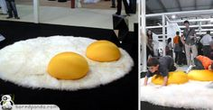 Looking for an unusual rug for your egg-themed room anyone?