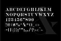 Ad: Wrangler - Modern Fashion Caps Font by New Tropical Design on Wrangler is a bold yet elegant, sans serif caps font. Great for word-mark logos or fashion mastheads. Wrangler is both feminine and Pull Quotes, Feminine Fonts, Modern Serif Fonts, Stencil Font, Fashion Words, Word Mark Logo, Minimal Logo, Minimal Classic, Tropical Design