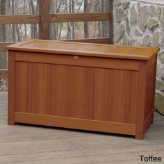 Highwood Eco-friendly Synthetic Wood Premium Deck Storage (Deck Storage Box. King Size. Toffee.), Brown, Patio Furniture (Plastic)