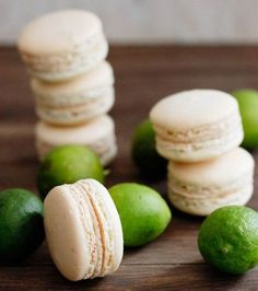 key lime pie macarons | http://withloveandcupcakes.com