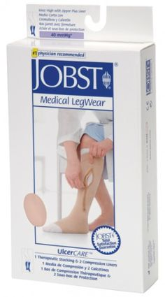Jobst Ulcercare Therapeutic Open Toe Knee High 40 mmHg Compression Stocking with Zipper and Liner Our Price: $77.12 maju 7 velkosti: S- 4XL