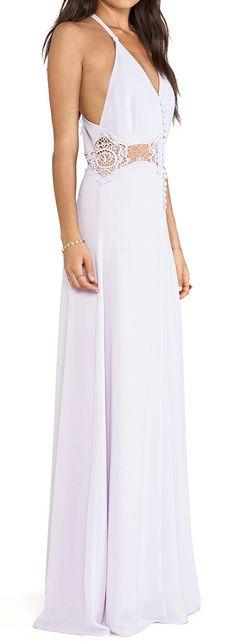 Lavender lace maxi