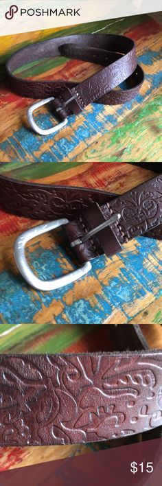 American Eagle outfitters belt Size small measures 40 inches super soft leather western  embossed Silver hardware new with tag American Eagle Outfitters Accessories Belts