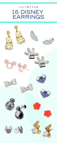 Make a major fashion statement with these mini Disney earrings! They're the perfect accessories to show off your Disney Style! | [ http://blogs.disney.com/disney-style/fashion/2016/03/14/16-disney-earrings-too-cute-not-to-own/#pandora-minnie-mouse-earrings ]