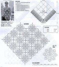 Прекрасная шаль крючком описание вязания