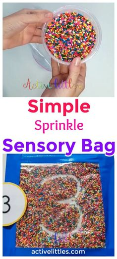 Simple Sprinkle Sensory Bag - Active Littles 4 Year OldsYou can find Preschool activities and more on our website.Simple Sprinkle Sensory Bag - Active Littles 4 Year Olds Activities For 1 Year Olds, Preschool Learning Activities, Infant Activities, Educational Activities, Classroom Activities, Summer Activities, Crafts For 2 Year Olds, Classroom Decor, Letter H Activities For Preschool