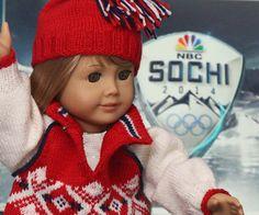2014 Sotsji vinter OL genser for dukken din Design: Målfrid Gausel    $5
