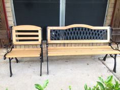 Refinished cypress bench and chair. Bayou Junkin Girls