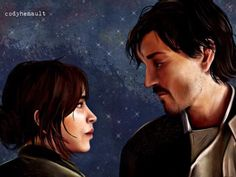 Jyn + Cassian, RebelCaptain, Stardust, Rogue One, Star Wars - Welcome Home
