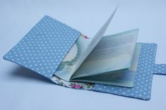 Going on holiday? Travel in style with your very own hand-made Passport cover! You will need: Fabric for outer cover (I've used Blue and White Spot) Fabric for lining (I've used Sky Blue and White ...