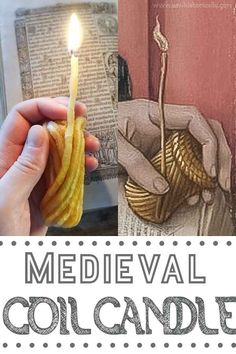 How To Make A Medieval Coil Candle – Tutorial