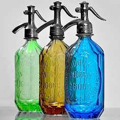 Bring back the siphon bottle, make me want to get One just to look at and make a Tom Collins