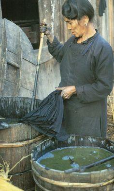 Indigo dyeing, china