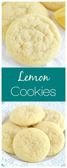These Lemon Cookies are incredibly soft and bursting with lemon flavor! These Lemon Cookies are incredibly soft and bursting with lemon flavor! Lemon Dessert Recipes, Lemon Recipes, Baking Recipes, Delicious Desserts, Yummy Food, Tasty, Yummy Cookies, Cupcake Cookies, Lemon Cookies Easy