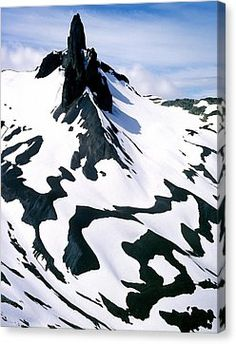 Black Tusk Canvas Print by John  Bartosik