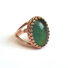 Rose Gold Mood Ring by TemporalFlux on Etsy