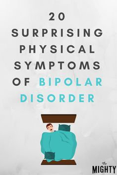 20 Surprising Physical Symptoms of Bipolar Disorder. 7 are my symptoms along with the MAIN ones 13 with 18 being the biggest. Symptoms Of Bipolar Depression, Sou Bipolar, Bipolar Quotes, Anxiety Attacks Symptoms, Depression Help, Depression Recovery, Depression Support, Mental Health, Signs