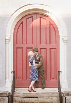 Stunning, Military, Vintage Americana Love Shoot // Rachel Brenke