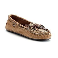 LAMO Women's Sabrina Moccasin Slippers, Girl's, Size: 6, Brown