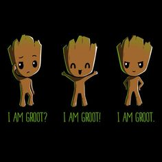 Groot (x3) (Drawing by TeeTurtle) #GuardiansOfTheGalaxy