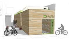 Kelsey | Graduate Interiors Project | Passage, Infill, and Global Interiors #architecture #bike #cafe #perspective