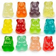 Our 12 Flavor Gummi Bear Cubs feature the bright fruit flavor & soft chew you expect from Albanese Candy - just in a baby bear size. Gummy Bear Candy, Gummy Bears, Bulk Candy, Candy Store, Just Miniatures, Chewy Candy, Sour Candy, Thing 1, Candy
