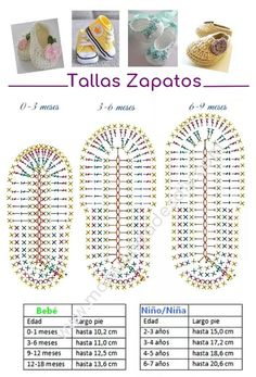 80 Patrones para hacer zapatitos, botines y zapatillas de bebés en crochet (free patterns crochet sandals babies) This is a super easy and fast step by step tutorial that will teach you how to crochet baby sandals - Salvabrani Hilaria crochet projects: C Crochet Baby Sandals, Crochet Baby Boots, Booties Crochet, Crochet Baby Clothes, Crochet Slippers, Knitted Baby, Knit Baby Booties, Baby Slippers, Converse En Crochet