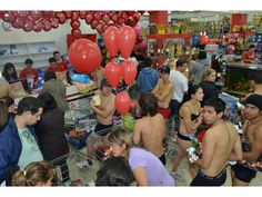 Instead of shopping for underwear, some people in Paraguay took to shopping in their underwear. A mall offered discounts to shoppers if they fulfilled the stripped-down attire condition.
